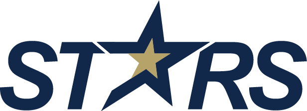 Stars wordmark navy