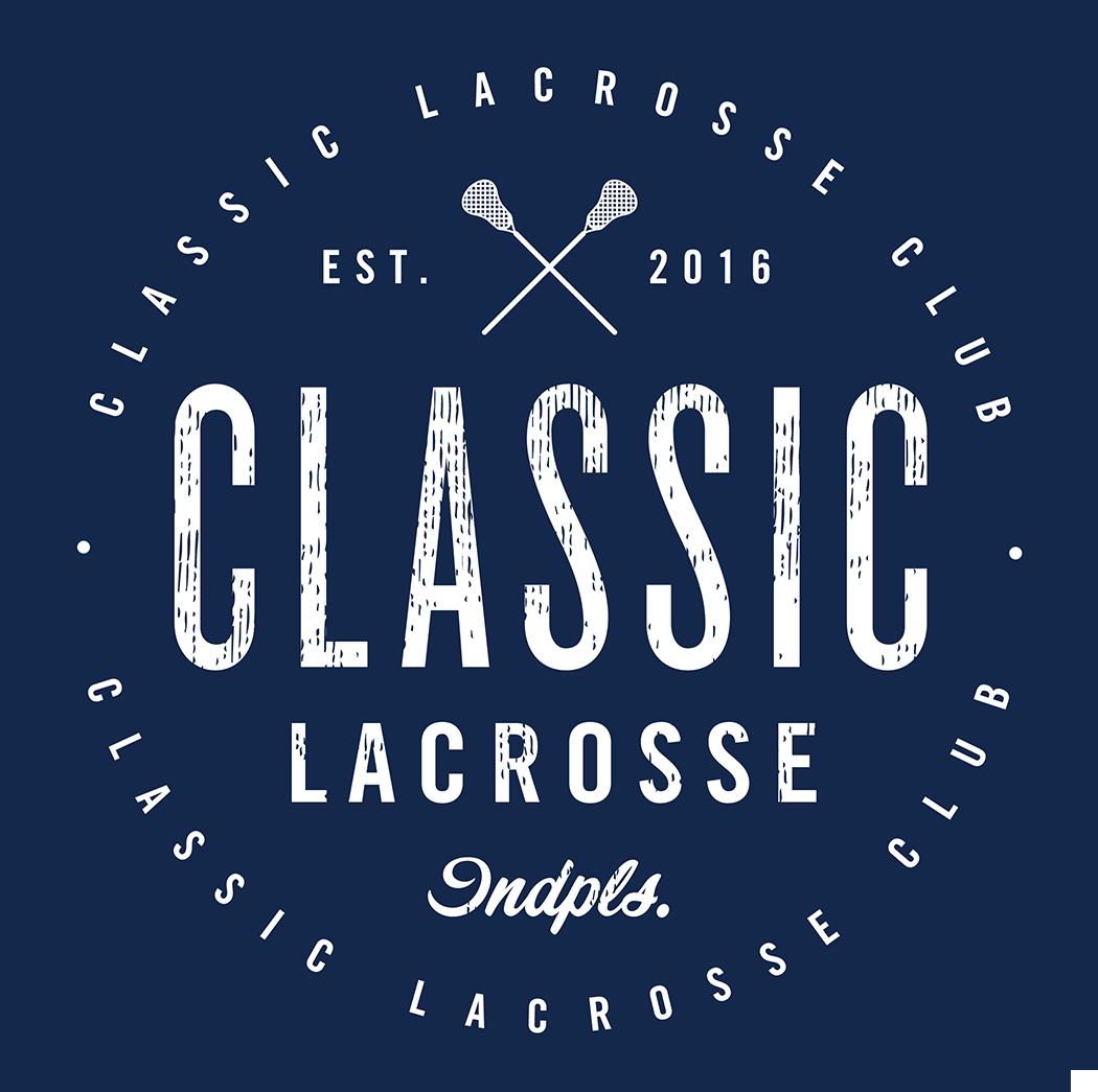 Classic lacrosse club logo navy