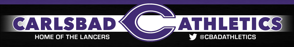 Carlsbad athletics website header
