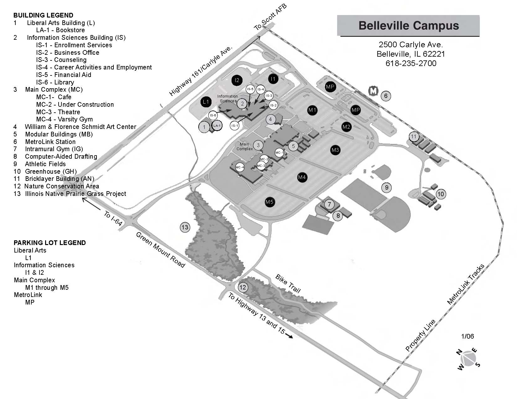 Illinois College Campus Map.Southwestern Illinois College Belleville Il
