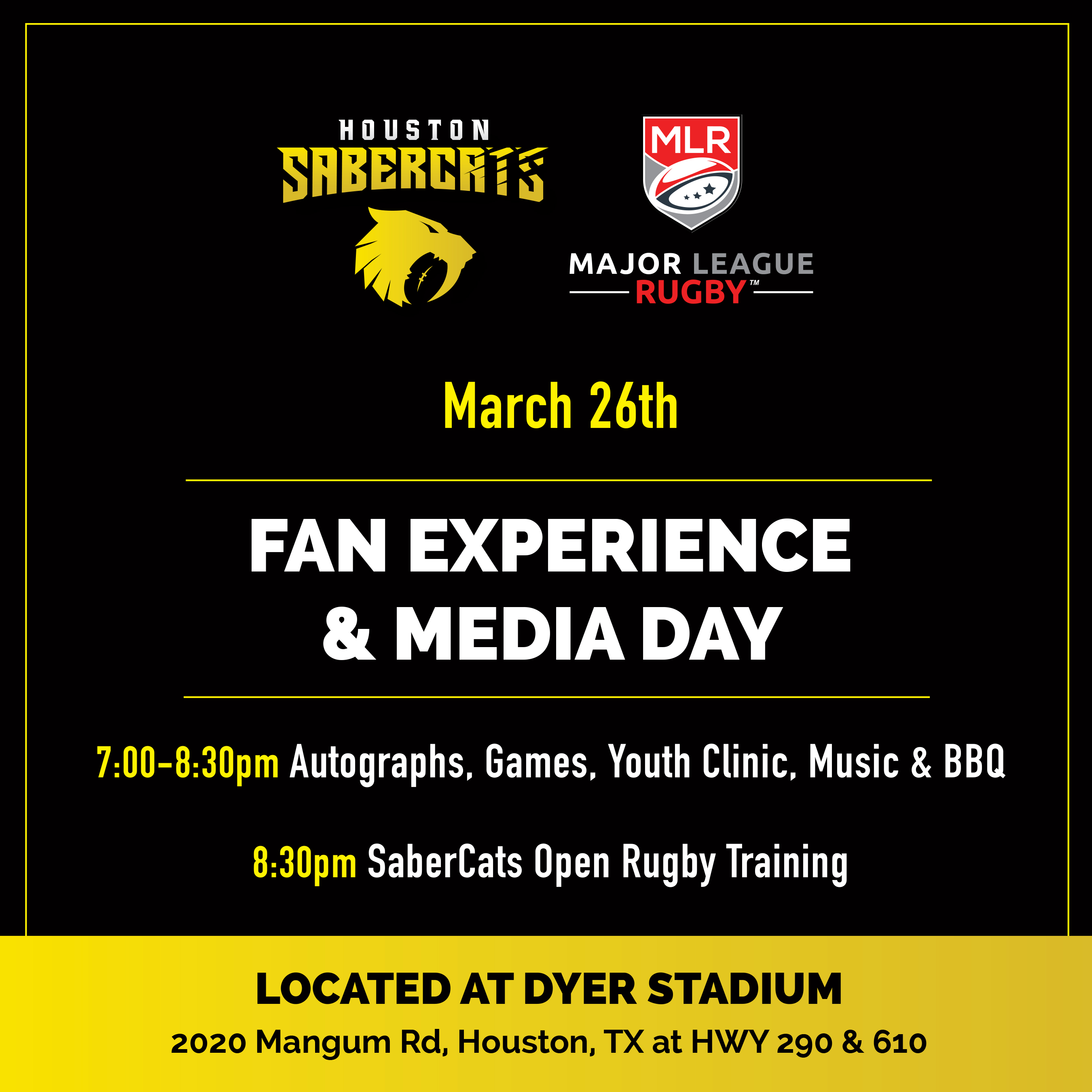 SaberCats Fan Experience Day