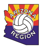 Arizona region volleyball logo