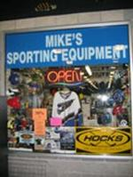 Mikes sporting equipment logo large