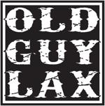 Old guy lax black and white logo