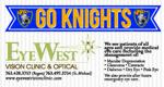 Eyewest go knights bizcard ad