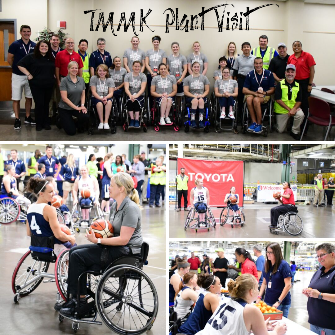 e0e608998b11d Toyota USA Women's National Wheelchair Basketball Team Visits Toyota Plant  in Kentucky