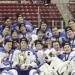 Team photo with Cup and Banner