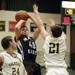 Glenbrook North's Michael Keane contests a shot