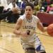 Guerin junior guard Adam Castro drives to the basket