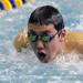 Hinsdale South's Jason Yang competes in the 200-yard IM at the Lyons Invite