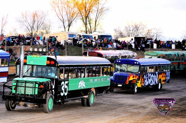 School Bus Races This Saturday May 10th