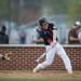 Maine South's Zach Parker takes a swing