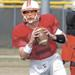 Fargo Invaders quarterback Tony Stauss has thrown for 910 yards and 10 touchdowns in nine game this season. Carrie Snyder / The Forum