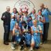 Minneapolis Lakers Girls 8th Grade Gold pose with their hardware after taking 1st at Westonka White Hawk Classic