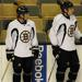 Milan Lucic & Marc Savard of the National Hockey League's Boston Bruins
