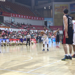 Fabyon Harris lines up a free throw in the second half against the Belgrade Stars.