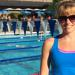 Victoria Munro with the North Shore Winter Club's Marlins Swim Team