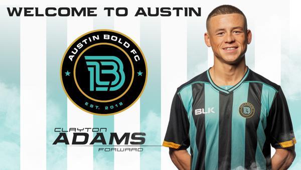 quality design e8361 403b8 AUSTIN BOLD FC SIGNS FORWARD CLAYTON ADAMS
