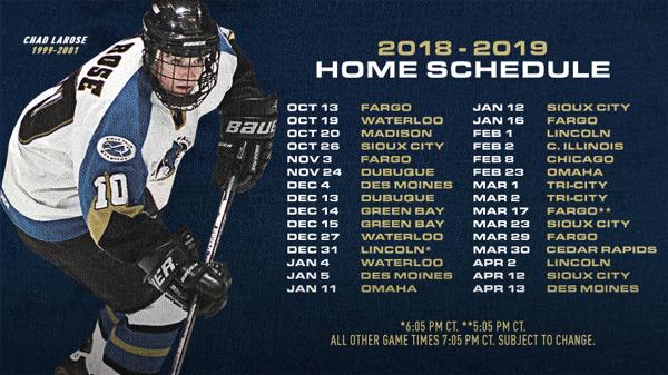 Stampede Release 2018 19 Season Schedule