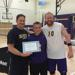 Horn on far right with current CLU head coach Kevin Judd