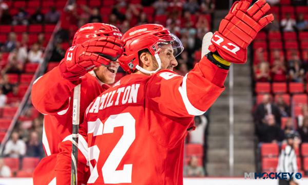 Former HoneyBaked Defenseman Hamilton Shines In Red Wings Debut