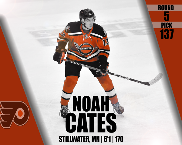 Flyers Draft Cates in Fifth Round