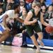 Jackson Piotrowski dribbles a basketball
