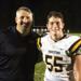 Bill and Will Conaty after Moorestown's win Friday over Seneca