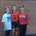 (L to R) Former Shawnee players Gianna Glatz, Krista Hoffman and Gianna Mancini.after Princeton played Rutgers last week in field hockey.