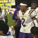A passionate Donald Williams (No. 2) delivered an emotional speech to his teammates after the game..