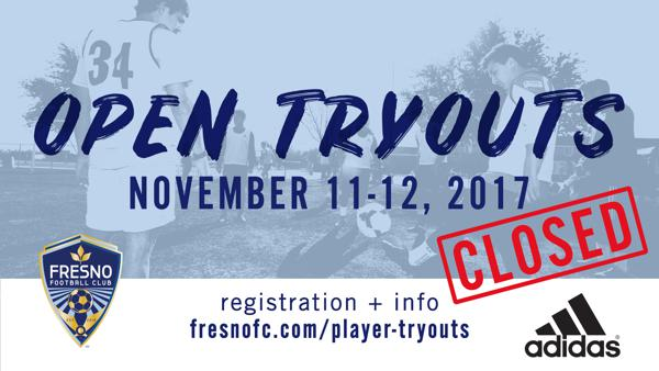 2018 Open Tryout registration now closed