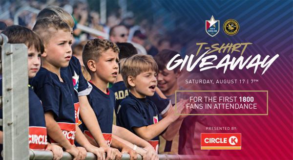 Circle K Free T-shirt Giveaway at Aug  17 Match