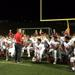 Tim McAneney speaking, or perhaps telling a story, to his team after a game this season