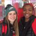 Cara Racobaldo sports her Eagles hat on Saturday while with her friend and teammate Michelle Obasi