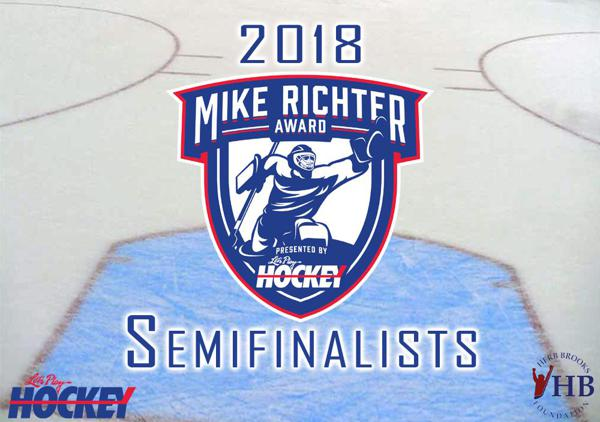 MN H.S.: Ten Semifinalists Announced For 2018 Mike Richter Award