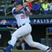 Photo Caption: Marcus Nidiffer swings during Thursday's home game against the Trois-Rivierès Aigles. Nidiffer hit a three-run home run in Friday's game at the New Jersey Jackals. (Photo Credits: Drew Wohl, Rockland Boulders)