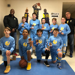 Minneapolis Lakers Boys 6th Grade White pose with their Medals after becoming the Champions at MYAS Supersaver-Fridley in Fridley , MN
