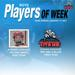 Titans announce Strider Carhart and Chiara Donohue as Boys' Players of the Week for week ending January 17.
