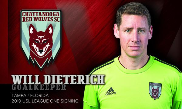Chattanooga Red Wolves SC Adds Goalkeeper Will Dieterich to