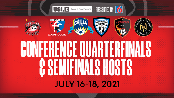 USL League Two Announces Host Locations for the 2021 Conference Quarterfinals and Conference Semifinals