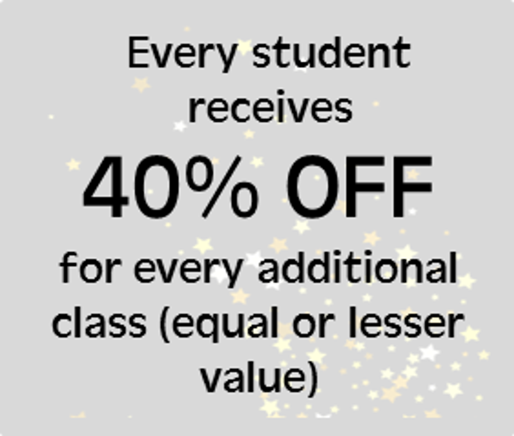 Additional class discount