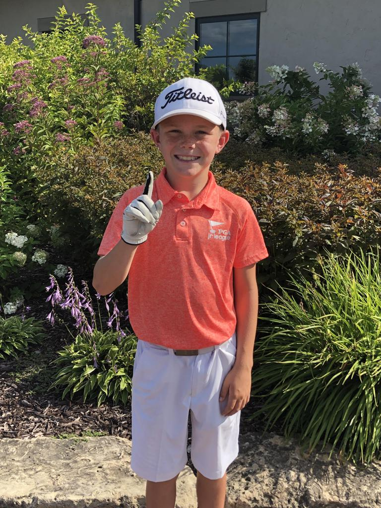 10-year-old Chase Birdwell made a hole-in-one during the Minnesota Section Championship!