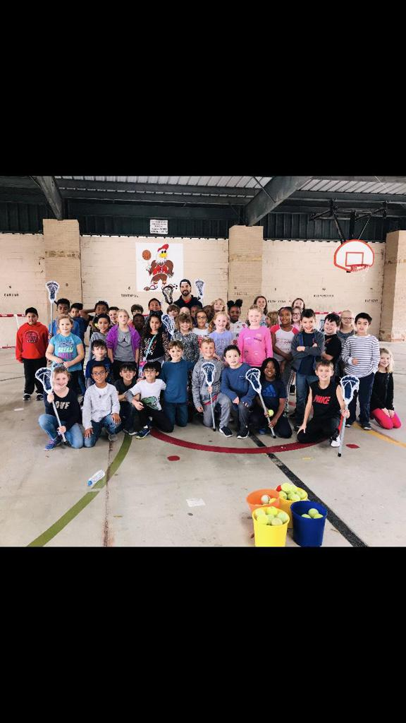Coach Brooks and Atascocita Lacrosse Elementary Camp and Outreach Huge Hit