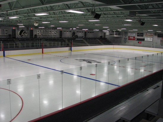 The indoor ice arena has ice available all year