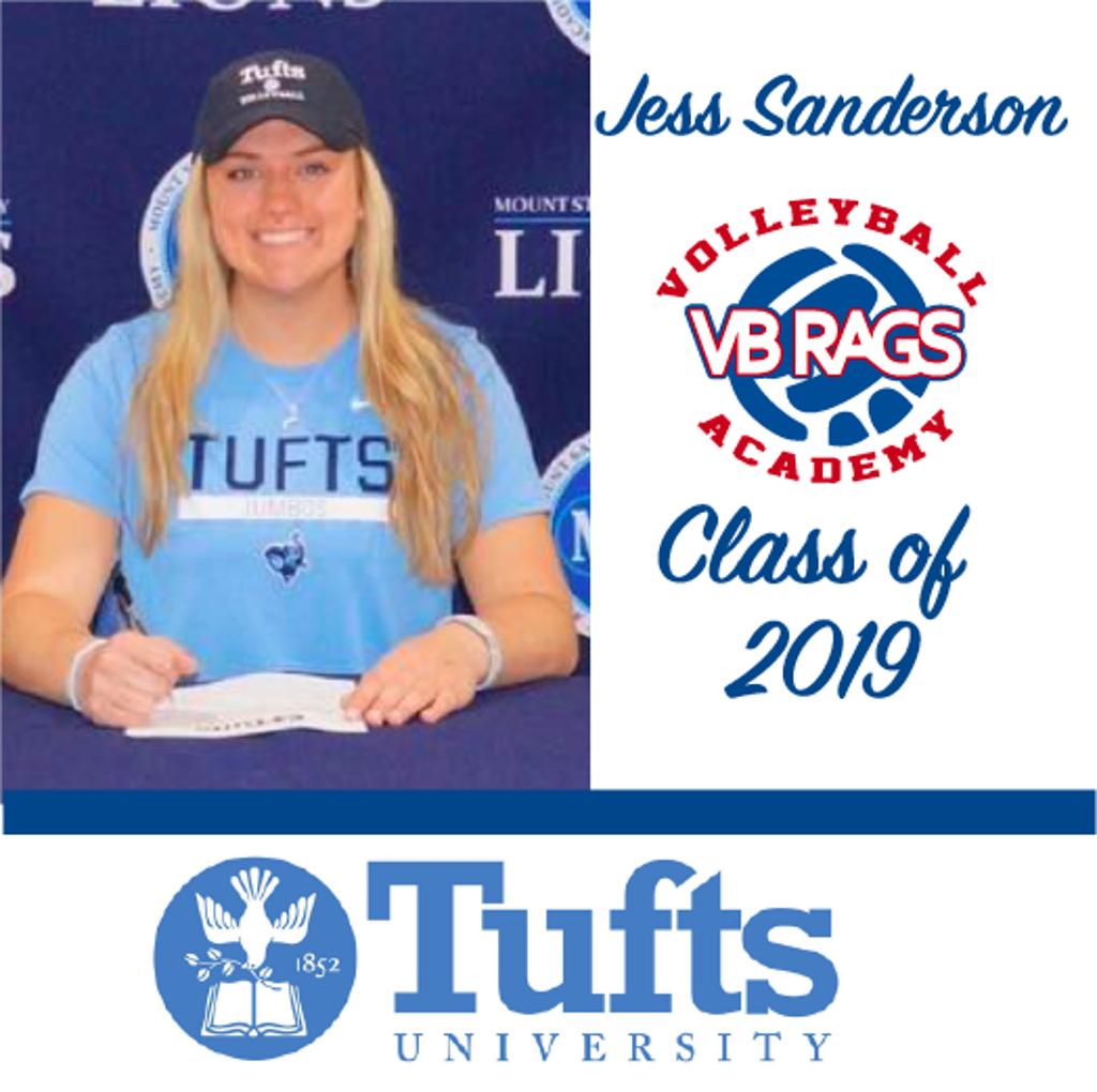Jess Sanderson - Team VB RAGS Class of 2019
