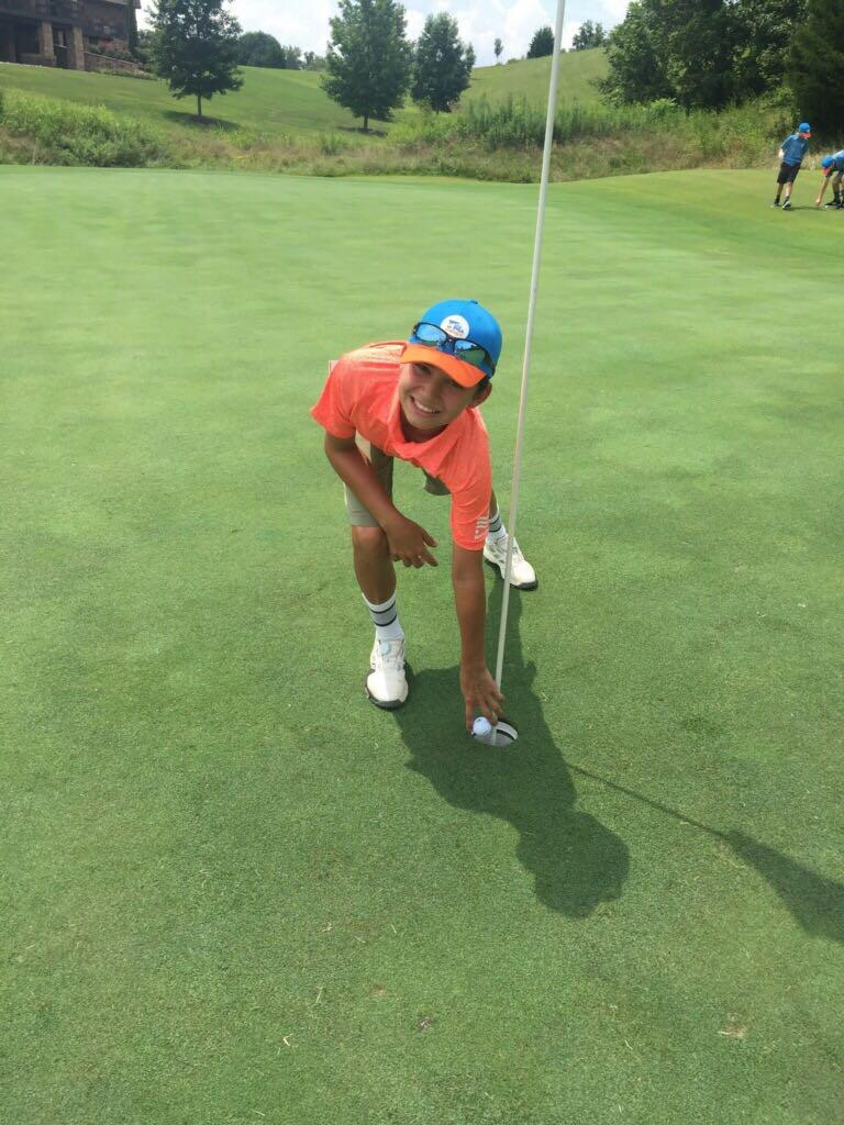 Alex Robinson, 12, of the Knoxville 2 All-Stars, aced Hole No. 6 from 120 yards with his 9-iron at Sevierville Golf Course during the PGA Jr. League Tennessee Section's East Qualifier. In the regular season, he was a member of Fairways and Greens Golf Cen