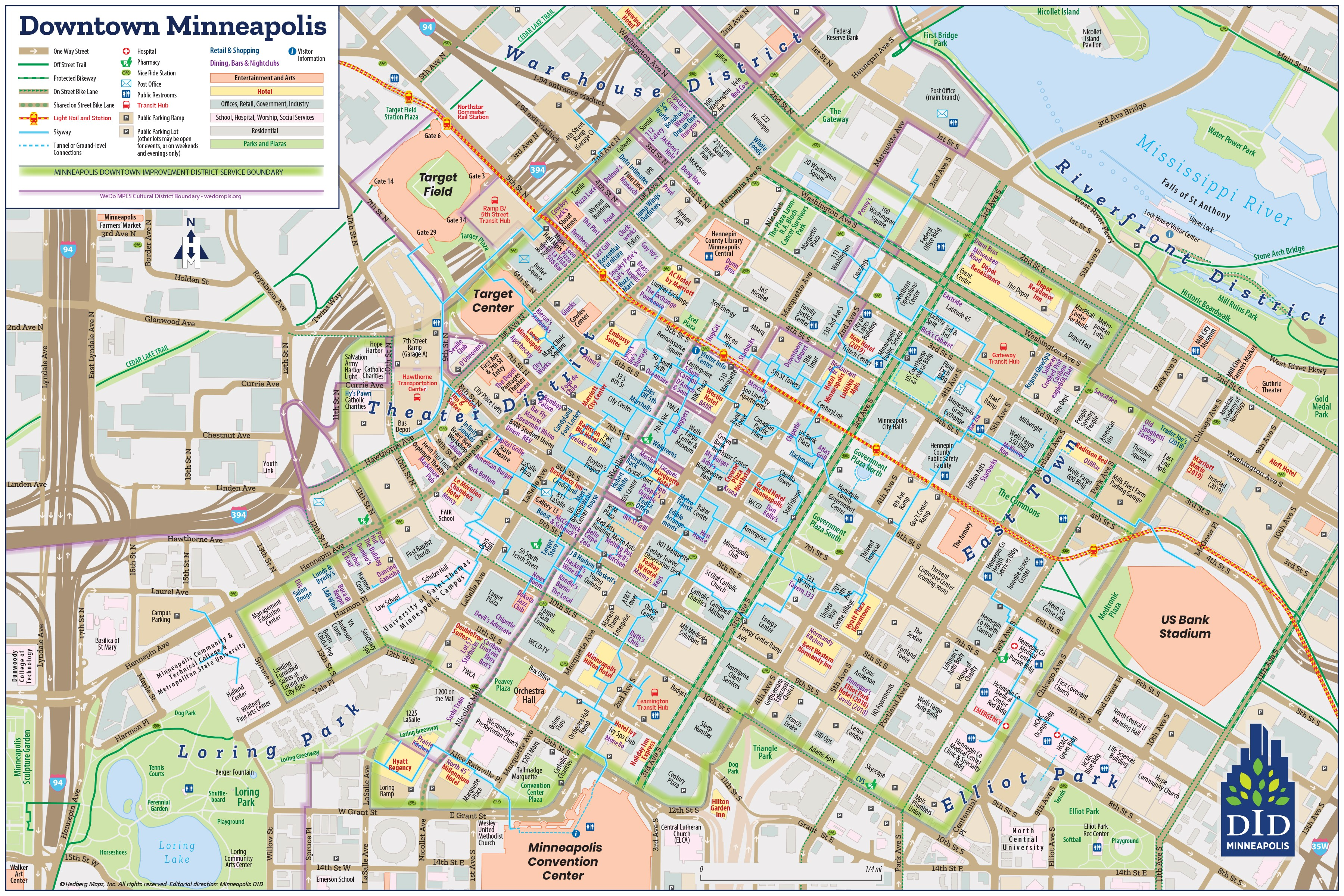 DID Downtown Minneapolis Visitor Map