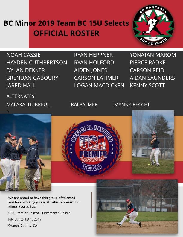 Team BC Selects 15U