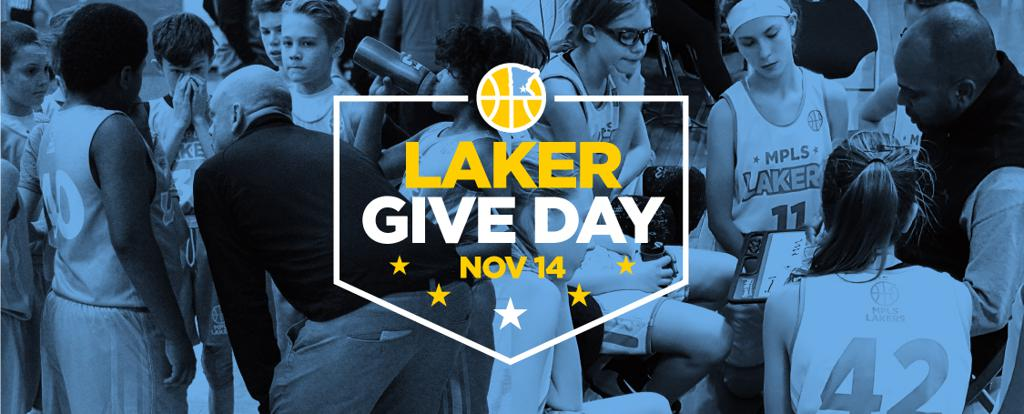 Give To The Max, Laker Give Day. Donate to further the Mpls Laker cause