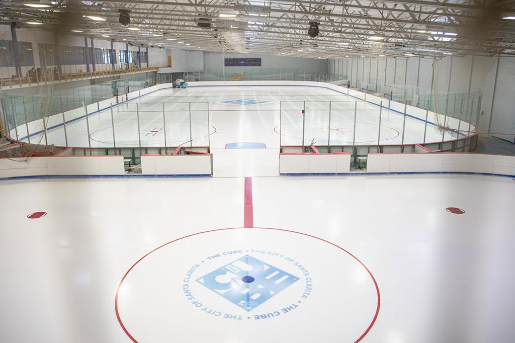 Elevated view of the Pond and Olympic Ice Surfaces